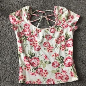 Floral crop top size small